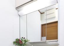 三面鏡大型洗面化粧台